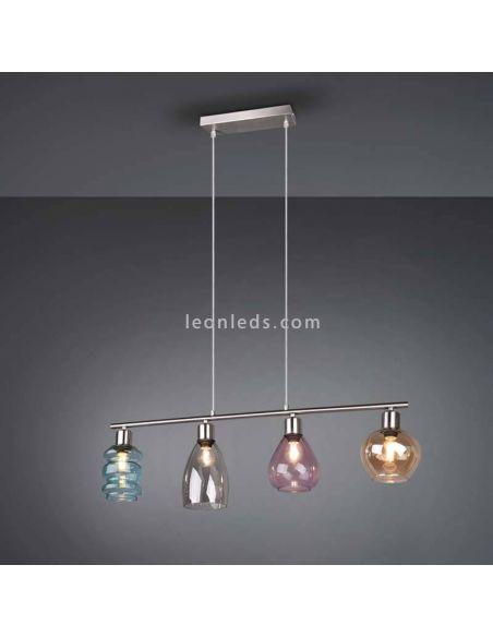 Lámpara de techo Coral de cristal | LeoLedslamparasdetecho