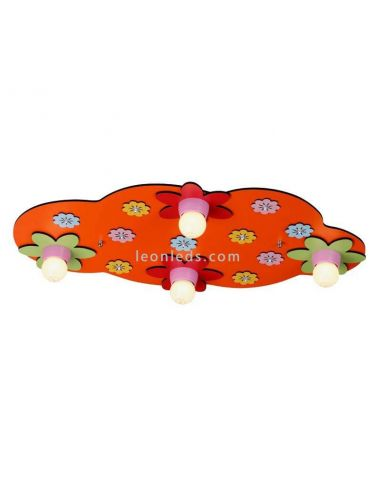 Bloom plafón rojo de CristalRecord | LeonLeds.com