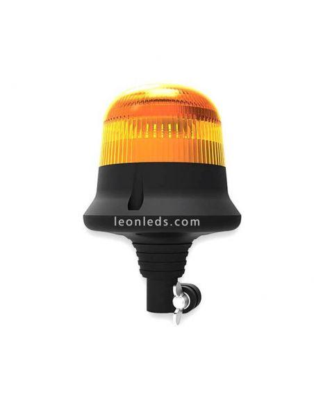 Rotativo LED Hermetico Resistente a Golpes Ambar Homologado 1 Destello Chip Cree Alta Calidad DIN 14620 | LeonLeds