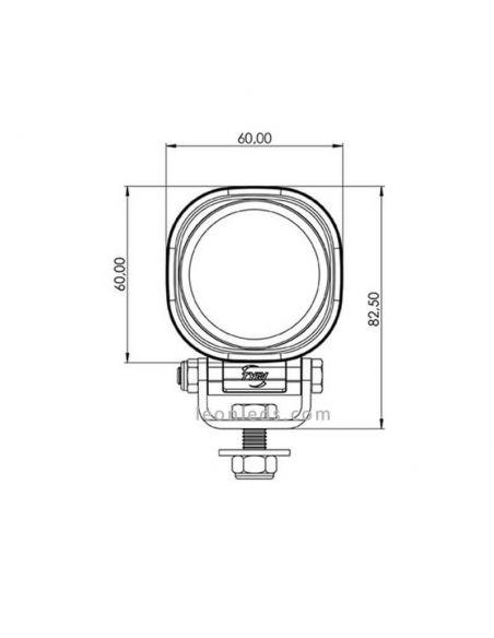 Faro Cuadrado de Trabajo Tractor Maquinaria Industrial Embarcaciones Barcos  -0606- LED Tyri Alta calidad Cuadrado | LeonLeds