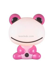 Lámpara de sobremesa rana rosa original | LeonLeds.com