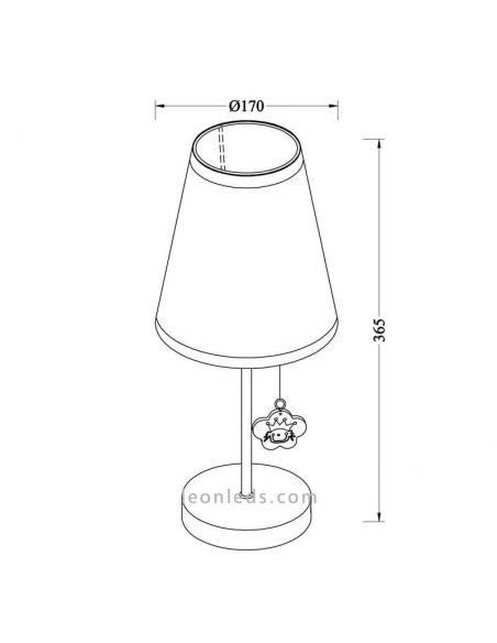 Lámpara de mesa serie Princess | LeonLedslamparasinfantiles