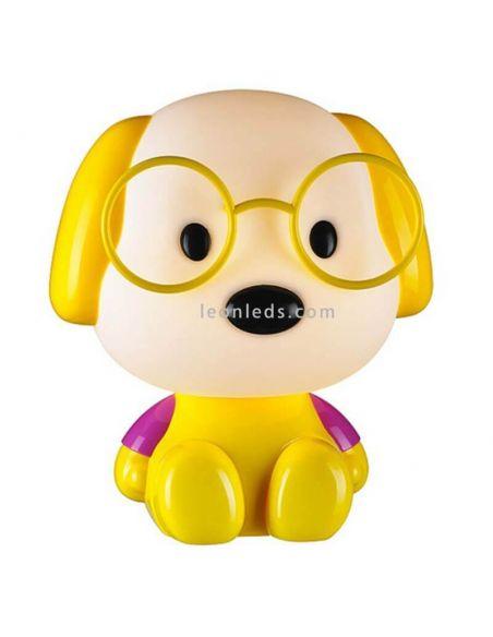 Lámpara de sobremesa Puppy amarilla | LeonLeds.com