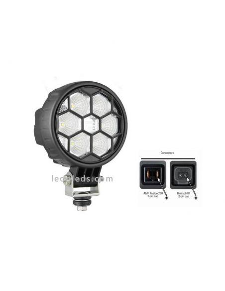 Faro Redondo 6 LEDs - 24 V  Lente Transparente  | LeonLeds.com