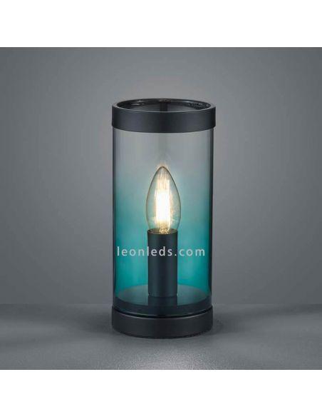 Lámpara de sobremesa turquesa Cosy | LeonLedsiluminacion