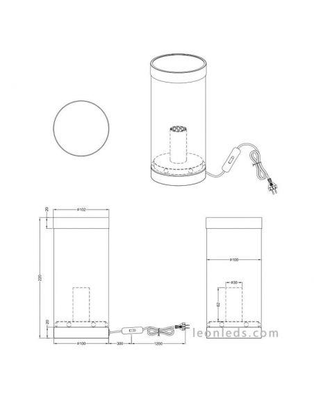 Lámpara de sobremesa turquesa Cosy | LeonLedslamparasdemesa
