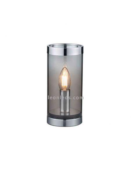 Lámpara de mesa Cosy de TrioLighting color humo | LeonLeds.com