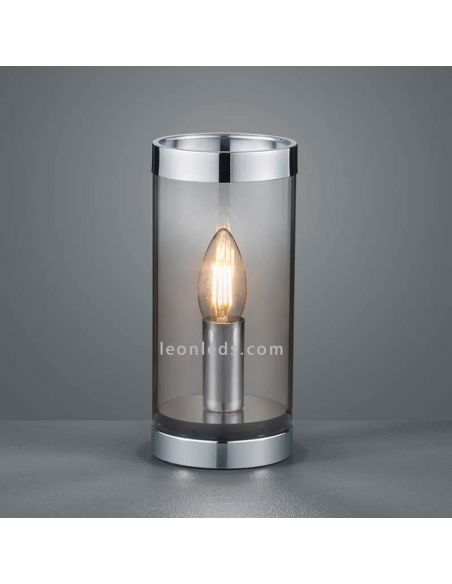 Lámpara de mesa Cosy de TrioLighting color humo | LeonLedsiluminacion