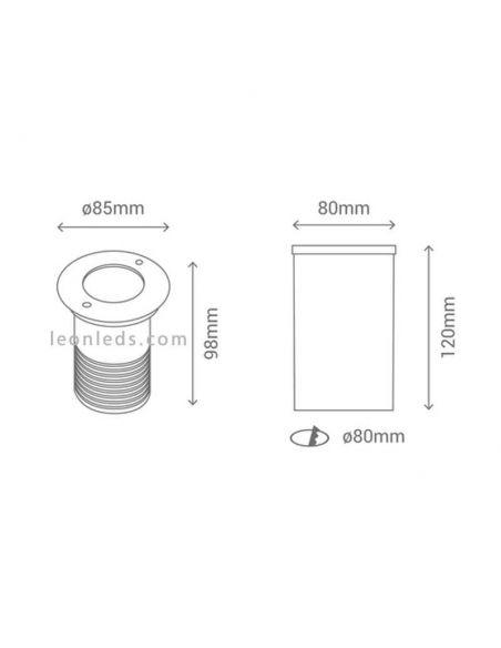 Foco Led Cobsoil pequeño para empotrar de Sulion | LeonLeds.com