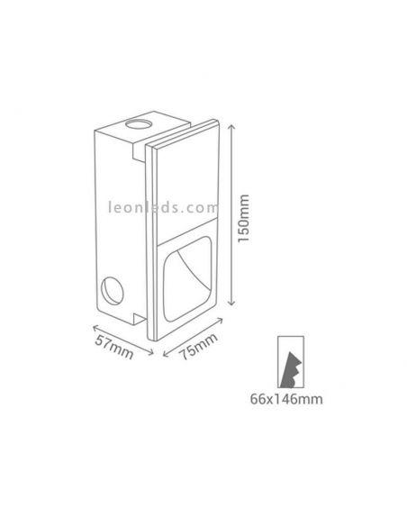 Baliza LED cuadrada Lindenfix de Sulion | LeonLeds.com