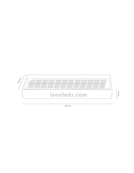 Aplique exterior LED Moderno Suny   LeonLedsapliquesSulion