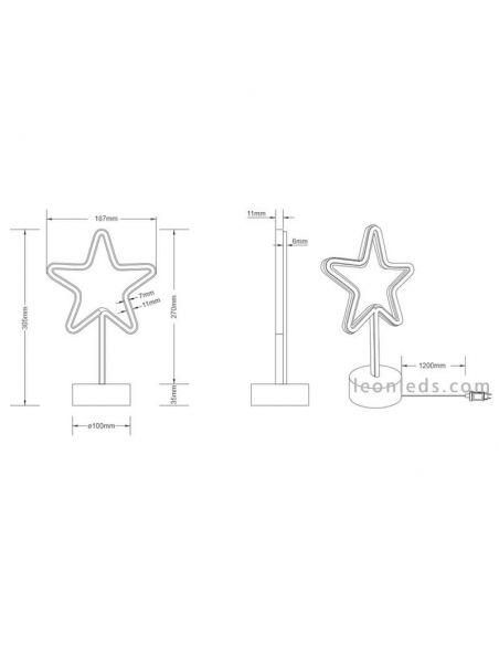 Lámapra de sobremesa Star de Trio Lighting | LeonLedslamparasdesobremesa
