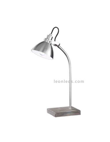 Lámpara de sobremesa industrial Timber Trio Lighting