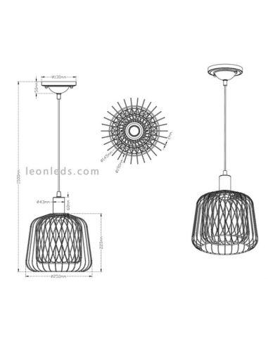 Lámpara moderna de techo Sanna de Trio | LeonLedsiluminacion