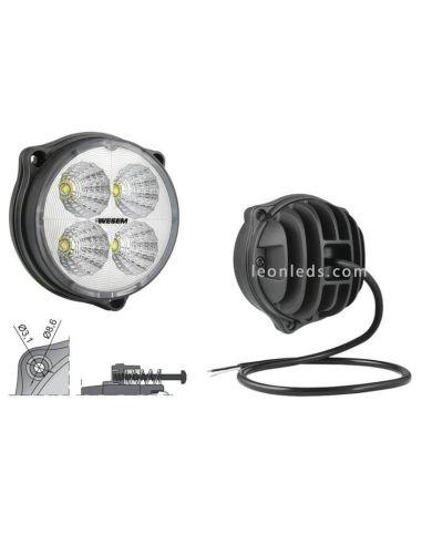 Faro Redondo Ø87 LED  12-24V Con Cable | LeonLeds.com