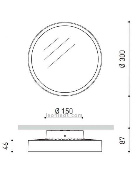 Dimensiones Plafón LED redondo Sky 5 ArkosLight