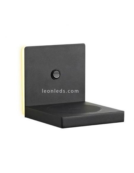 Aplique LED con carga de inducción negro
