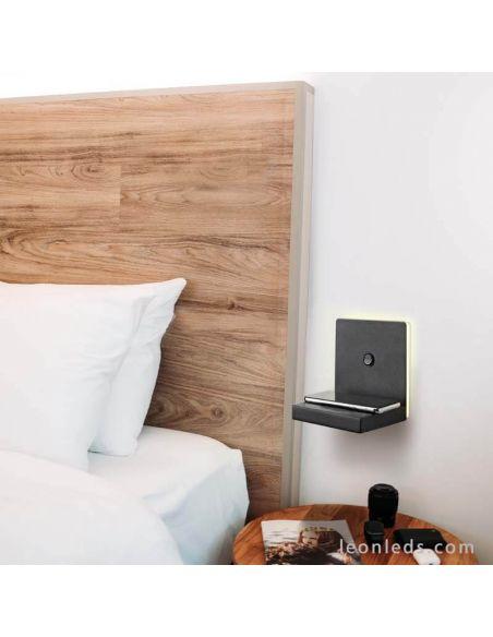 Aplique LED con carga de inducción negro ambiente