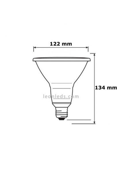 Bombilla LED PAR38 15º IP65 Osram LedVance