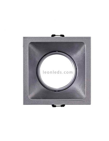 Foco Empotrable cuadrado basculante Confort Mantra Plata