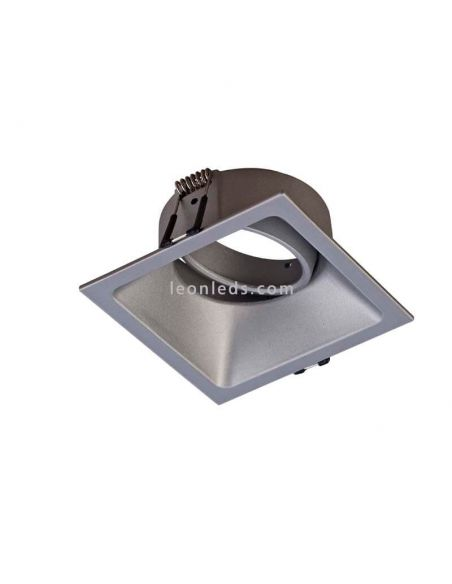 Foco Empotrable cuadrado Plata