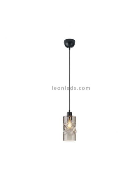 Lámpara colgante cristal Swirl Trio Lighting
