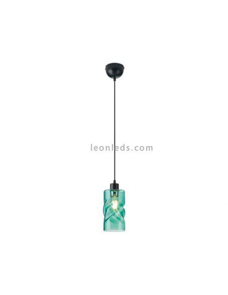 Lámpara colgante cristal Turquesa