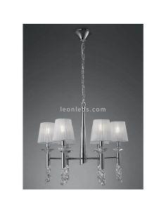 Lámpara de Techo clásica Tiffany 6 pantallas Mantra