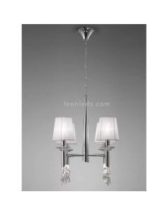 Lámpara de Techo clásica Tiffany 4 pantallas Mantra