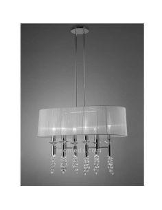 Lámpara de Techo clásica Alargada Tiffany 6 pantallas Mantra