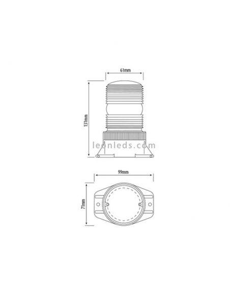 Medidas Rotativo LED para carretillas