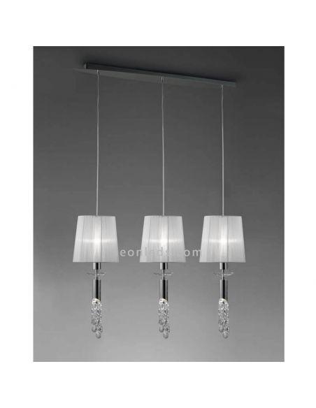 Lámpara de techo 3 pantallas Tiffany Mantra