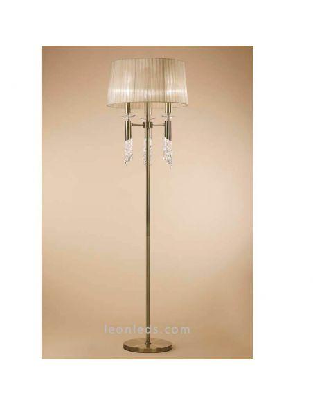 Lámpara de Pie Clásica Cuero Tiffany Mantra