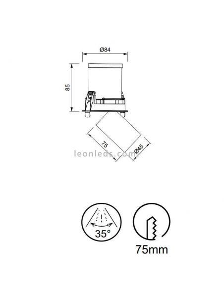 Dimensiones Foco LED empotrable