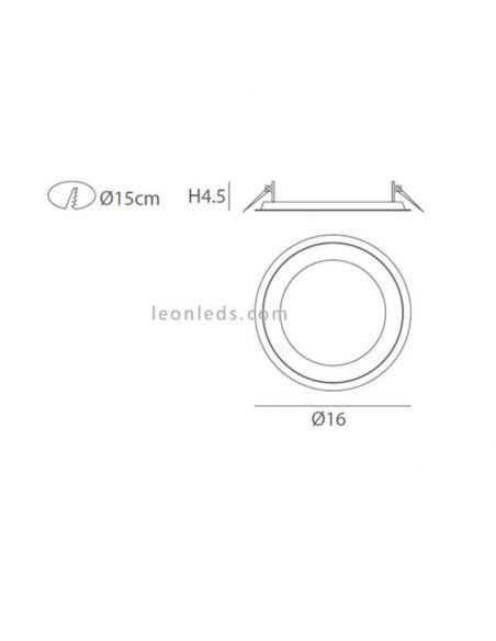 Dimensiones Halo 10W Fm Iluminación
