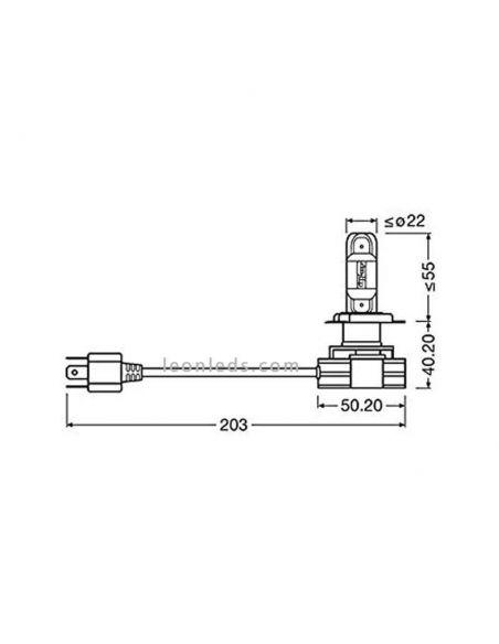 Dimensiones Bombillas LED H4 12V 24V