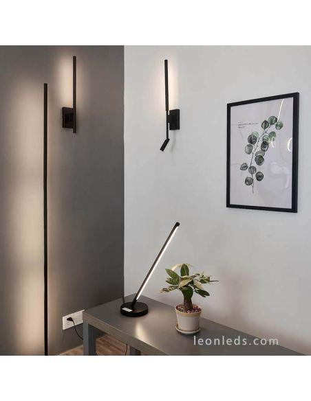 Lámpara de Pie Negra Regulable Torch Mantra