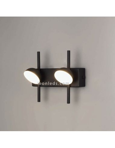 Aplique LED Doble negro 6W ADN Black 6265