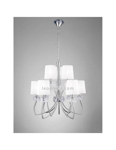Lámpara de techo Loewe Clásica cromada