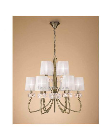 Lámpara de techo clásica Loewe Cuero Mantra