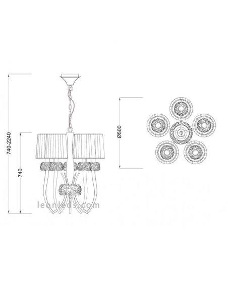 Lámpara de techo Loewe de Mantra