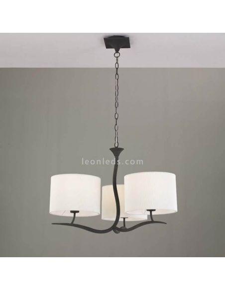Lámpara de Techo Clásica Antracita Eve 1151