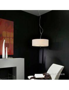 Lámpara Colgante Textil Blanca EVE