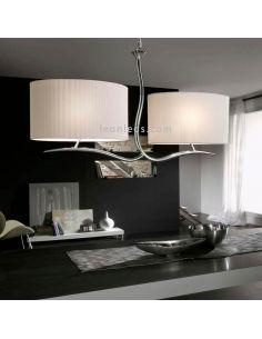 Lámpara de techo Cromada 2 Pantallas Eve