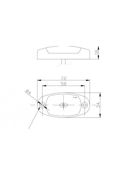 Piloto de posición o Galibo Reflectante Ovalado LED con conector Fristom FT025 FT-025 | LeonLeds