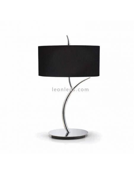 Lámpara de sobremesa Negra y Cromada Eve
