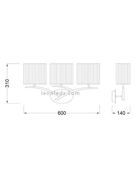 Aplique de pared Cromado Eve 1176