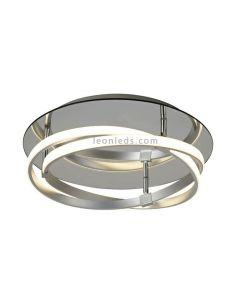Plafón de Techo LED plateado 30W Infinity 5382 5727 | LeonLeds Iluminación