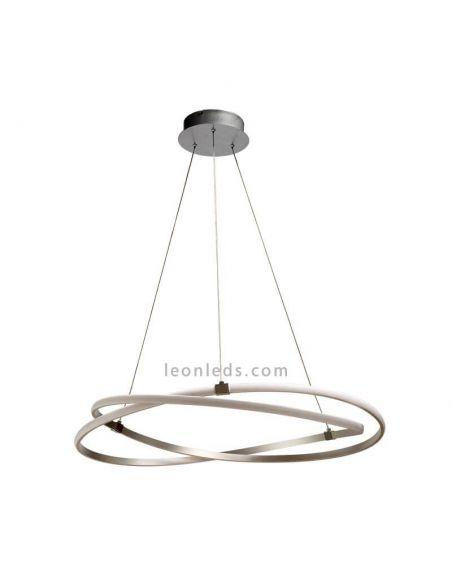 Lámpara de techo LED Infinity plateada 42W