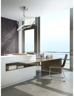 Lámpara de Techo Serie Nur XL 5003 5821 Dimmable Intensidad Regulable Plata Cromo Diseño Actual Doble | LeonLeds